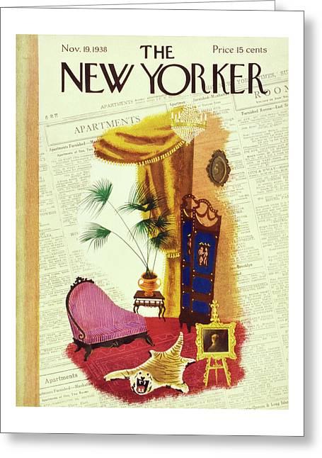 New Yorker November 19 1938 Greeting Card