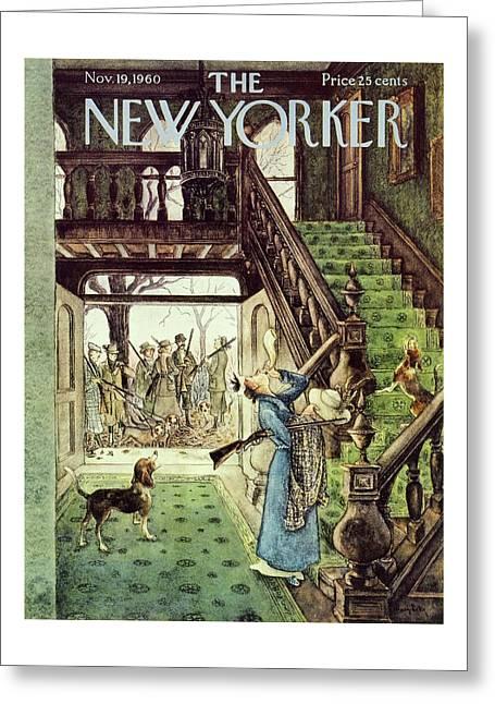 New Yorker November 19th 1960 Greeting Card