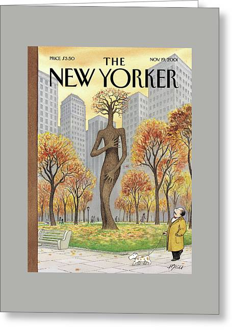 New Yorker November 19th, 2001 Greeting Card by Harry Bliss