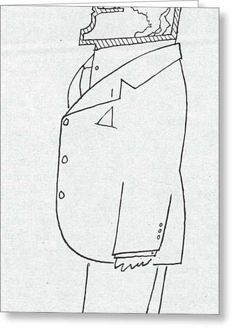 New Yorker November 1st, 1958 Greeting Card by Saul Steinberg