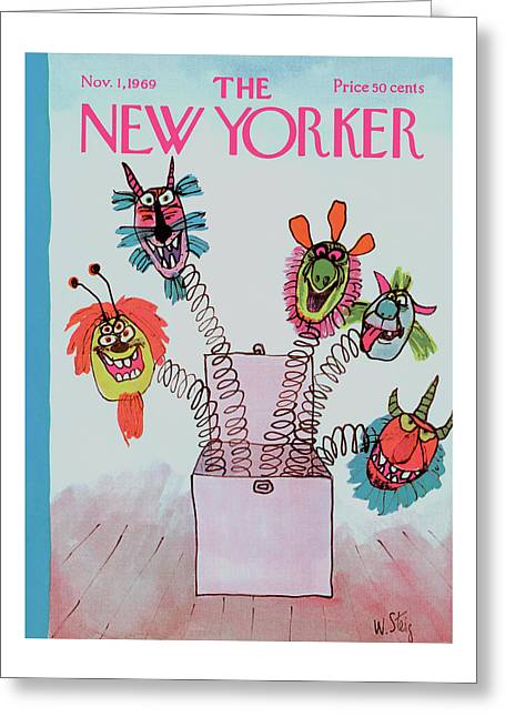New Yorker November 1st, 1969 Greeting Card