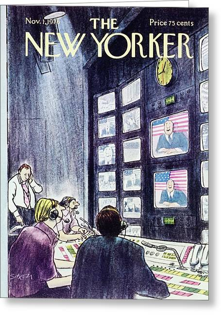 New Yorker November 1st 1976 Greeting Card by Charles D Saxon