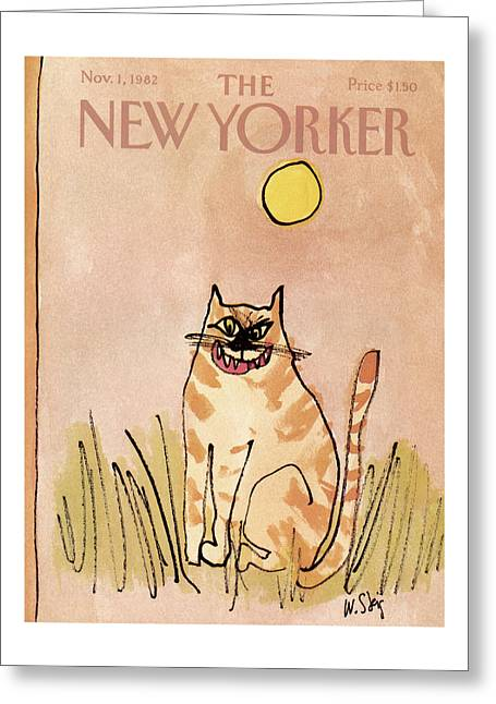 New Yorker November 1st, 1982 Greeting Card