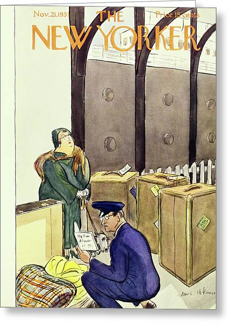 New Yorker November 21 1931 Greeting Card