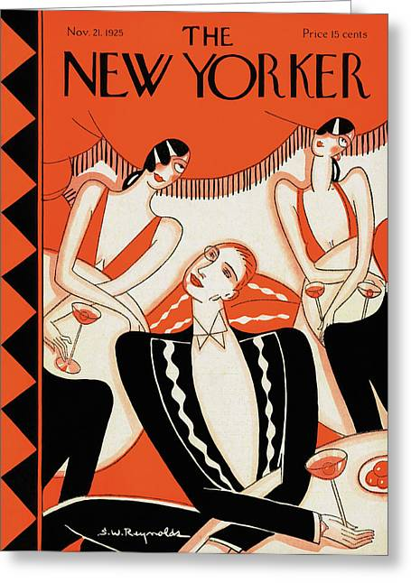 New Yorker November 21st, 1925 Greeting Card by Stanley W. Reynolds