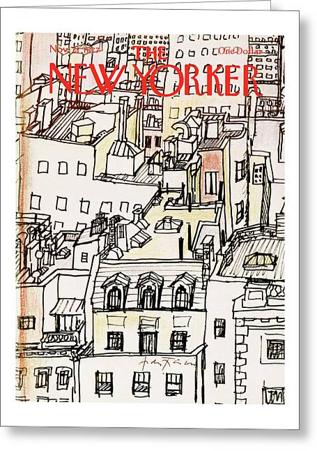 New Yorker November 21st, 1977 Greeting Card