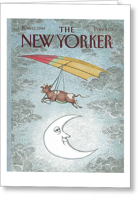 New Yorker November 21st, 1988 Greeting Card