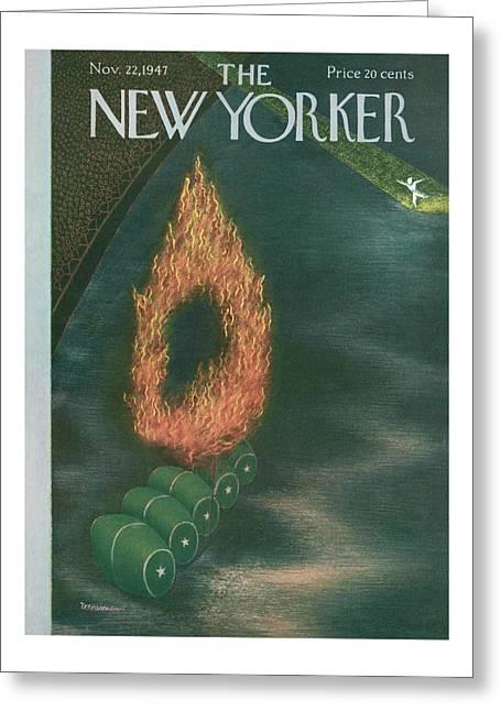 New Yorker November 22nd, 1947 Greeting Card