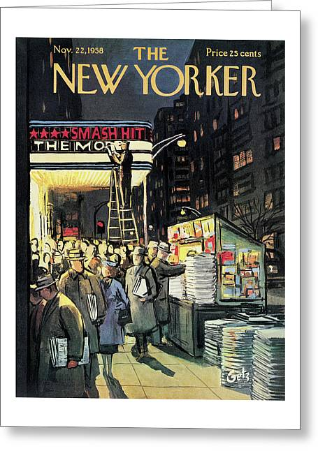 New Yorker November 22nd, 1958 Greeting Card