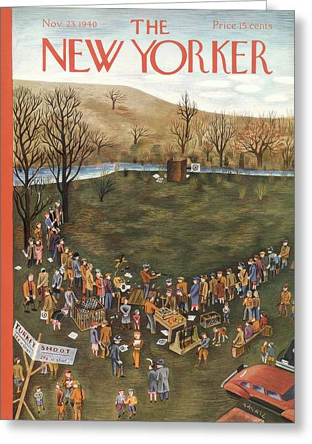 New Yorker November 23rd, 1940 Greeting Card