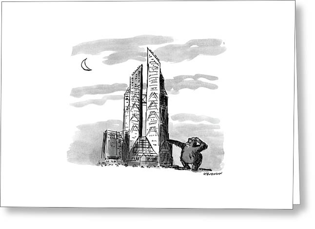 New Yorker November 23rd, 1987 Greeting Card by James Stevenson