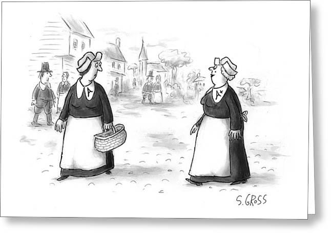 New Yorker November 23rd, 1998 Greeting Card by Sam Gross