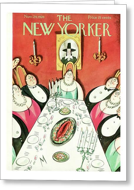 New Yorker November 24th, 1928 Greeting Card