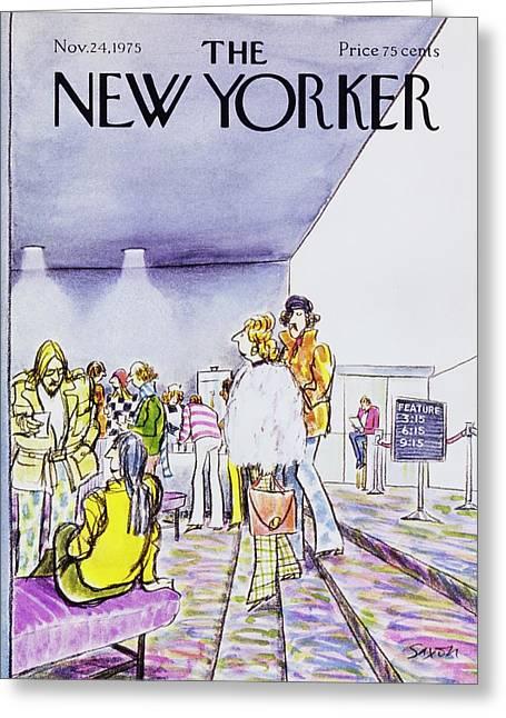 New Yorker November 24th 1975 Greeting Card