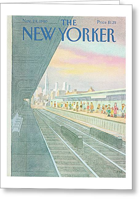 New Yorker November 24th, 1980 Greeting Card