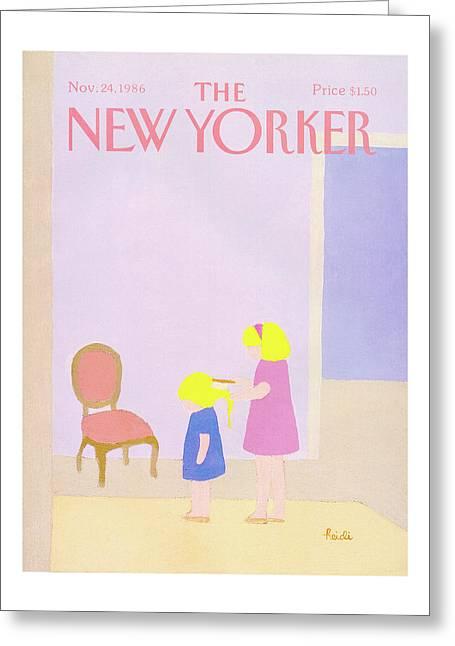 New Yorker November 24th, 1986 Greeting Card