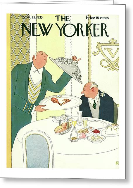 New Yorker November 25th, 1933 Greeting Card