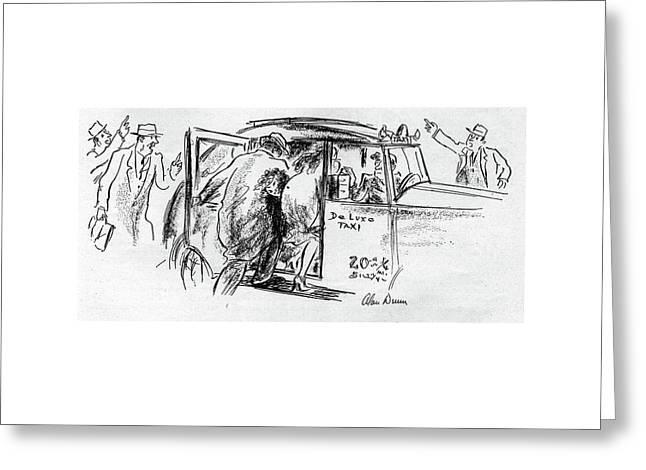 New Yorker November 25th, 1944 Greeting Card