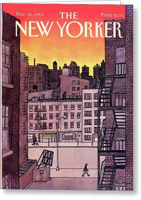 New Yorker November 25th, 1985 Greeting Card