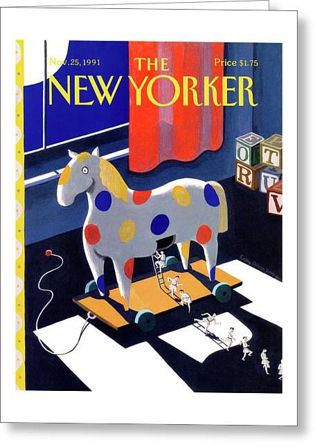 New Yorker November 25th, 1991 Greeting Card