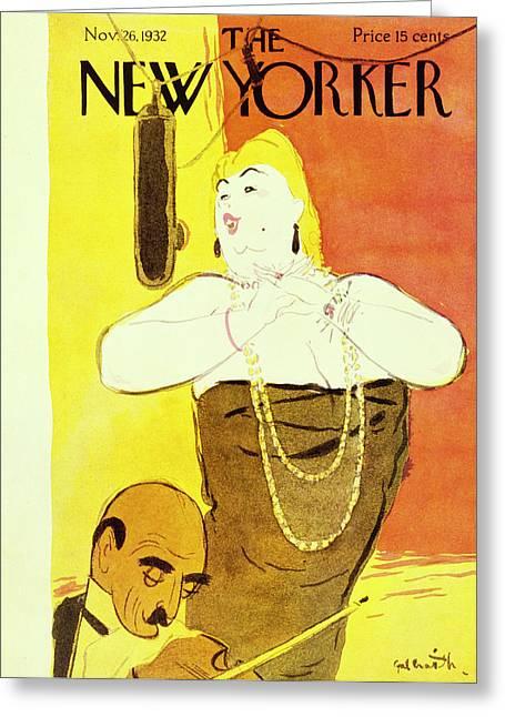 New Yorker November 26 1932 Greeting Card