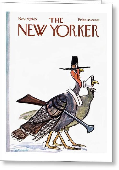 New Yorker November 27th, 1965 Greeting Card