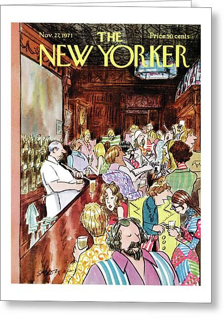 New Yorker November 27th, 1971 Greeting Card
