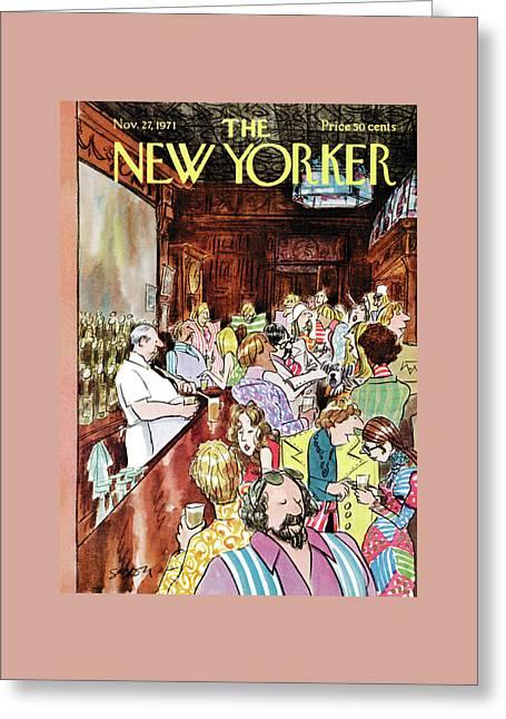 New Yorker November 27th, 1971 Greeting Card by Charles Saxon