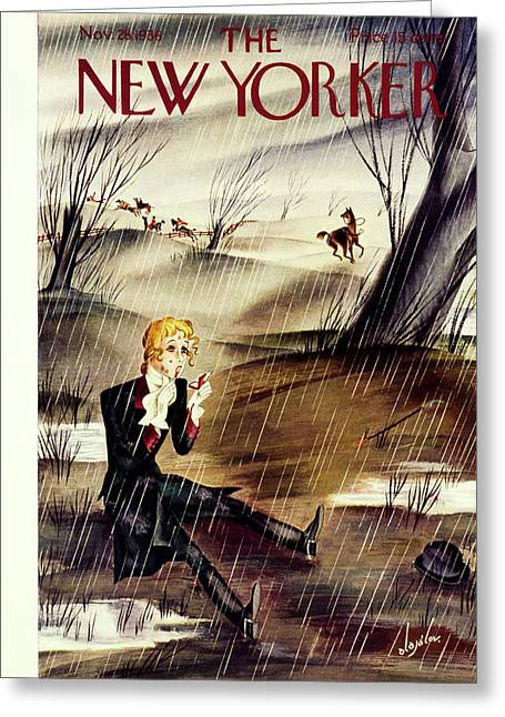 New Yorker November 28 1936 Greeting Card