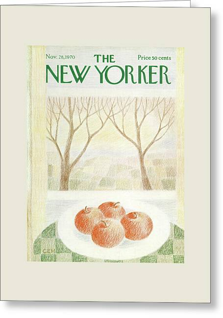 New Yorker November 28th, 1970 Greeting Card by Charles E. Martin
