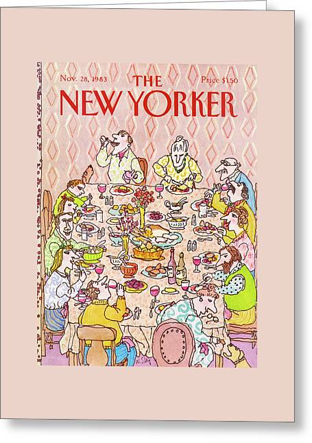 New Yorker November 28th, 1983 Greeting Card by William Steig
