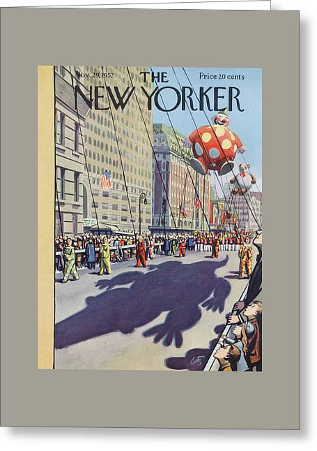 New Yorker November 29th, 1952 Greeting Card by Arthur Getz