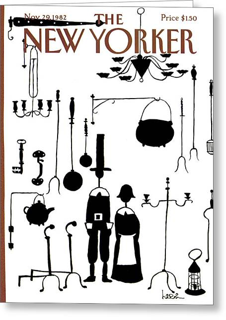 New Yorker November 29th, 1982 Greeting Card by Arnie Levin