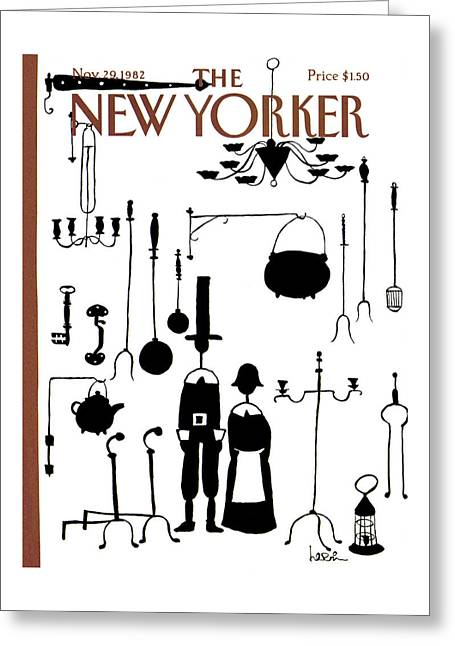 New Yorker November 29th, 1982 Greeting Card