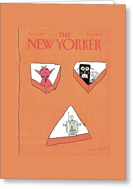 New Yorker November 2nd, 1981 Greeting Card by R.O. Blechman