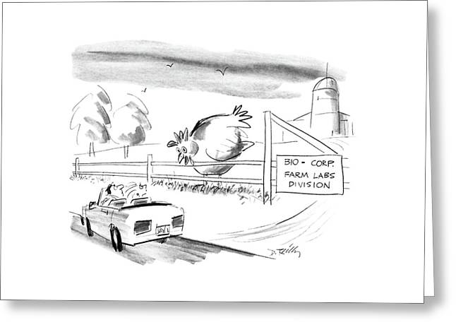 New Yorker November 2nd, 1987 Greeting Card
