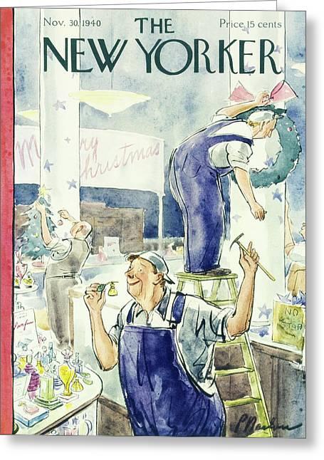 New Yorker November 30 1940 Greeting Card