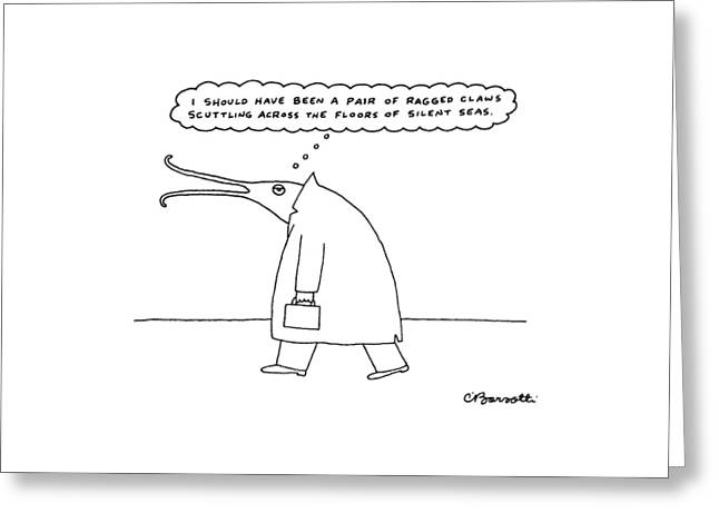 New Yorker November 30th, 1987 Greeting Card by Charles Barsotti