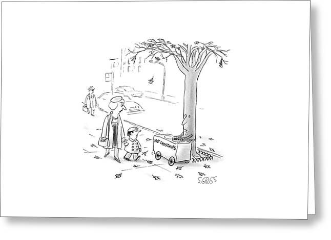 New Yorker November 30th, 1987 Greeting Card by Sam Gross