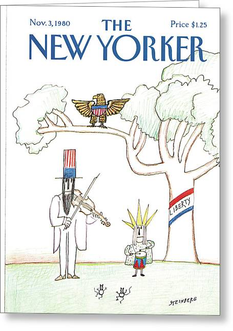 New Yorker November 3rd, 1980 Greeting Card