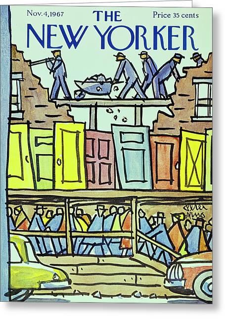 New Yorker November 4th 1967 Greeting Card