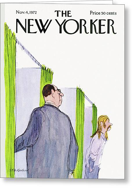 New Yorker November 4th, 1972 Greeting Card by James Stevenson