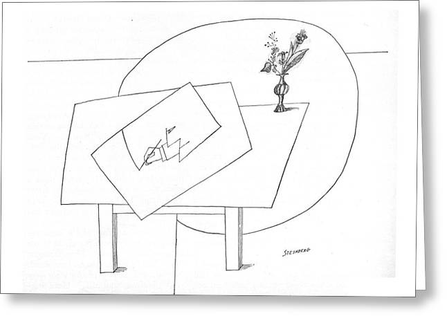 New Yorker November 5th, 1966 Greeting Card by Saul Steinberg