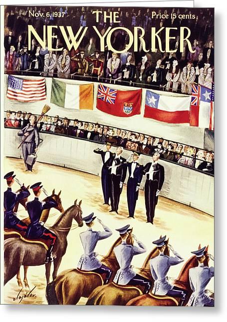 New Yorker November 6 1937 Greeting Card