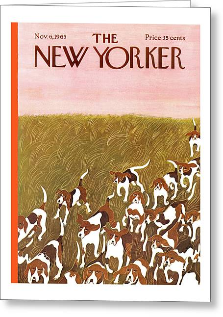 New Yorker November 6th, 1965 Greeting Card