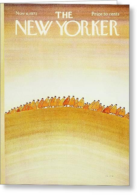 New Yorker November 6th 1971 Greeting Card