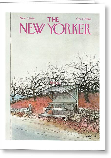 New Yorker November 6th, 1978 Greeting Card