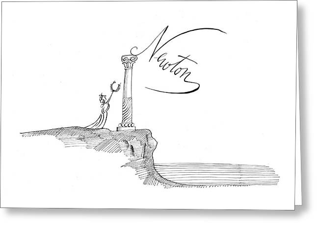 New Yorker November 7th, 1964 Greeting Card by Saul Steinberg