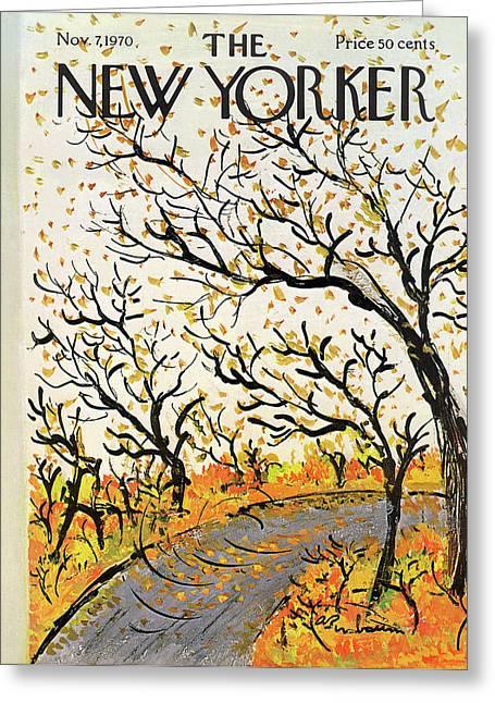 New Yorker November 7th, 1970 Greeting Card by Abe Birnbaum