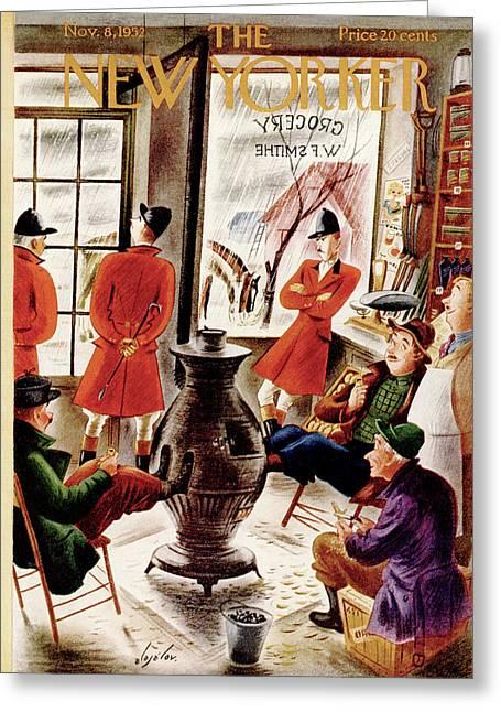 New Yorker November 8th, 1952 Greeting Card by Constantin Alajalov